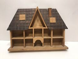Vintage Wooden House Display Shelf Wall for Miniatures $19.99