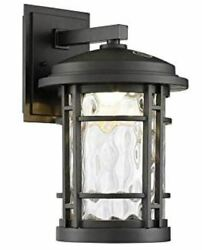 Altair 9quot; Outdoor LED Wall Lantern Burnished Bronze Finish Dusk to Dawn Light $78.99
