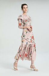 sale wholesale Holiday runway new Crew neck Short sleeves Print Floral Dresses $55.00