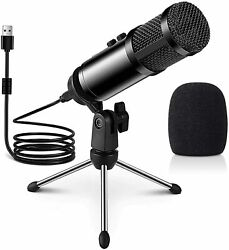 New Multipurpose Condenser Microphones USB Gaming For PC Computer Laptop $30.97