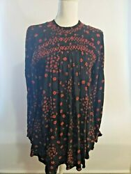 free people Womens Size S Red Black Knit Top Cute Shirt NWT $118 $20.00