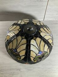 Tiffany Pendant Hanging Lamp Hand Made Stained Glass $154.99