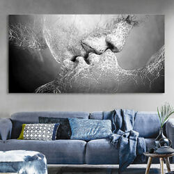 Modern Black White Love Abstract Canvas Print Wall Art Picture Home Decor US $12.08