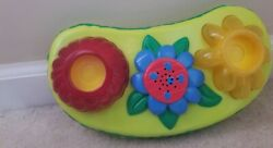 Evenflo ExerSaucer Triple Fun Replacement Toy Flower Base Lights Music Fish Pond $14.00