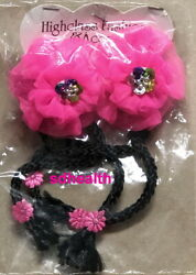 2 PC Fun Novelty Girls Hair Barrette Clips Accessories Pink NEW $6.52