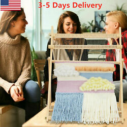 Weaving Loom Kit Large With Stand Wooden Looming Set Tapestry Loom Kit US $41.99