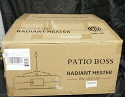 Patio Boss Electric Radiant Heater Suspended Remote Control $119.10