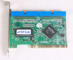 ST LAB PCI to IDE Adapter Card Silicon Image SI0490 Chip Dual ATA 100 RAID $10.00