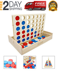 Connect 4 Large Outdoor Games Yard Big Huge Four Lawn Wooden Jumbo Gam NEW $23.38