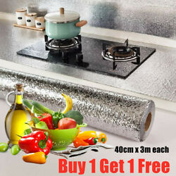 Waterproof Oil proof Self Adhesive Aluminum Foil Wall Sticker Home Kitchen Decor $12.00