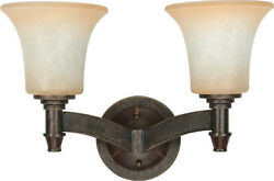 Viceroy 2 Light Golden Umber Dimmable LED Vanity amp; Wall Wall Light $170 $39.99