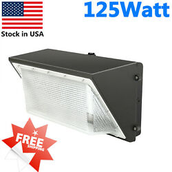 125W Wall Pack Light 5500k 15000lm IP65 Dusk to Dawn Commercial Lights US Ship
