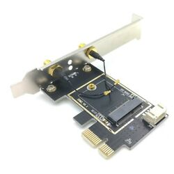 NGFF M2 to PCIE AC Wireless Network Adapter Card for Intel 9260 8265 1650AC $13.56