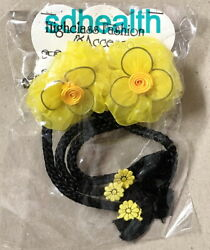 2 PC Fun Novelty Girls Hair Barrette Clips Accessories Yellow NEW $6.99