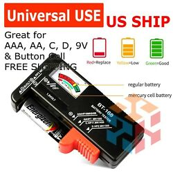 Battery Tester Checker Universal For AA AAA C D 9V 1.5V Button Cell Batteries US $4.95