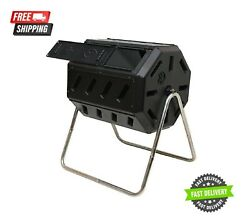 Black Outdoor IM4000 37Gal Dual Chamber Quick Curing Tumbling Composter Soil Bin $79.99