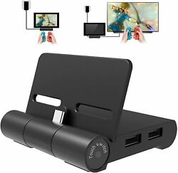 Nintendo Switch Dock Charger Stand 4K HDMI Adapter USB 3.0 $15.00
