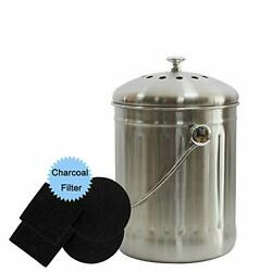 Kitchen Compost Bin 1.3 Gallon Countertop Compost Bins with Lid and 4 Charcoa... $42.32
