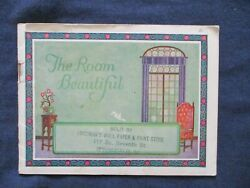 ca1930 Wall Paper Room Design Illustrated Advertising Booklet $4.49