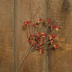 """Primitive Farmhouse Artificial Bittersweet Bunch 10"""" Fall Country Decor $10.00"""