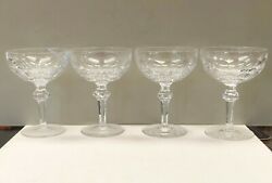 SET OF 4 VINTAGE WATERFORD CRYSTAL CURRAGHMORE CHAMPAGNE SHERBET 5 1 2quot; $90.00
