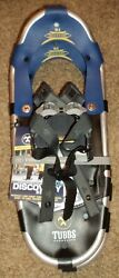 Tubbs Snowshoes Discovery 21 blue metal claw Aluminum Frame NEW with Tags $74.99