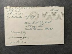 APO 15328 ENGLAND 1944 Censored WWII Army Cover Infantry D DAY Staging $9.99