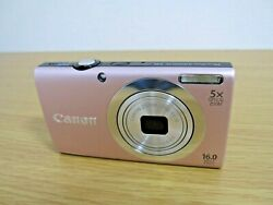 Canon Digital Camera 16MP Optical 5x Zoom Lens Powershot A2400 Is Pink $45.98