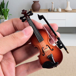 Sky Mini Violin Classic Natural Finish Acoustic Miniature Violin with Stand Bow $14.95