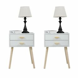 Set of 2 Modern Bedroom Nightstand Wood Bedside End Table Storage with 2 Drawers $113.99