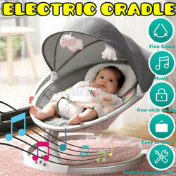 Electric Baby Swing Cradle bluetooth Music Remote Rocker Bouncer Chair Portable $78.99