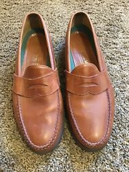 WOW SEBAGO Mens 13 Tan Leather Penny Loafers USA Dress Casual Shoes NICE $35.00