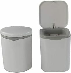 2x Small Trash Can Desk Office Countertop Waste Bins 0.5 Gal w Push Button Lid $11.34