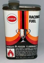 Vintage COX RACING FUEL 1 Pint Tin Oil Can RC Model Vehicles $49.75