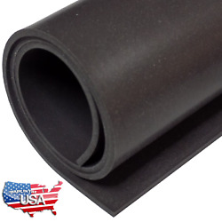 Black Silicone Rubber Sheet 60A 1 16 x 9 x 12 Inch Made in USA Gasket Material $9.99