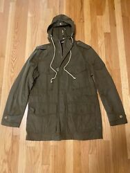 Barbour Cowen Commando Large with hood $115.00