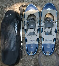 Tubbs 30 Inch Snowshoes Snow Shoes Made in USA Aluminum Pair With Poles And Case $99.99