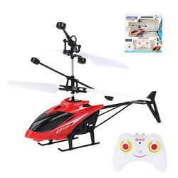 Red RC Helicopter Toys Mini Infrared Induction Drone With LED Night Lights AIR $11.55