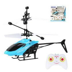 Blue RC Helicopter Toys Mini Infrared Induction Drone With LED Night Lights AIR $11.81