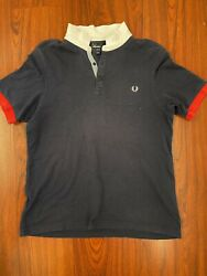 Fred Perry Mens Polo Tshirt Navy Blue Slim Fit XL Size Extra Large $34.44