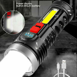 Super Bright 200000LM LED Torch Tactical Flashlight Rechargeable Camping Lantern $10.99