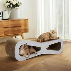 Cat Scratching Pad Post Board Lounge Scratcher Mat Toy Play Rest Bed with Catnip $36.99