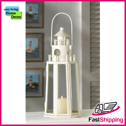 12quot; Tall Nautical Seaside LIGHTHOUSE CANDLE LANTERN $29.95