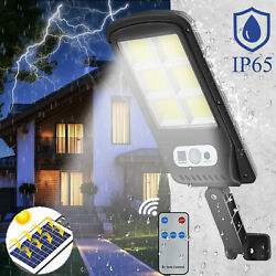 750W Solar Wall Street Light Waterproof Motion Remote Control LED Outdoor Lamp