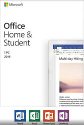 Home and student 2019 for PC. Classic 2019 versions of Word Excel PowerPoint $42.00