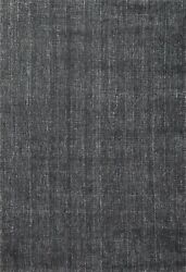 Contemporary Hand knotted Oriental Area Rug Modern Kitchen Charcoal Carpet 5x7 $317.46