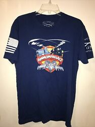 Grunt Style T Shirt Sz Large Blue Short Sleeve Ammomaniacs Helicopter A 10 Plane $14.99