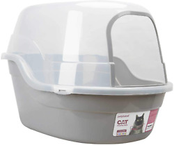Petphabet Covered Litter Box Jumbo Hooded Cat Litter Box Holds Up To Two Small $66.99