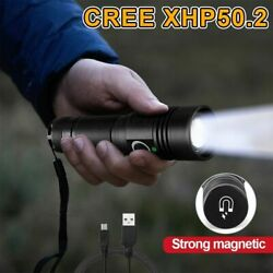 Mini LED Flashlight Rechargeable USB Torch Zoom Waterproof Hiking Camping Lights $26.51