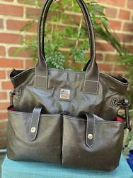 Dooney amp; Bourke Coated Crescent large with front exterior pockets Tote EUC $115.00